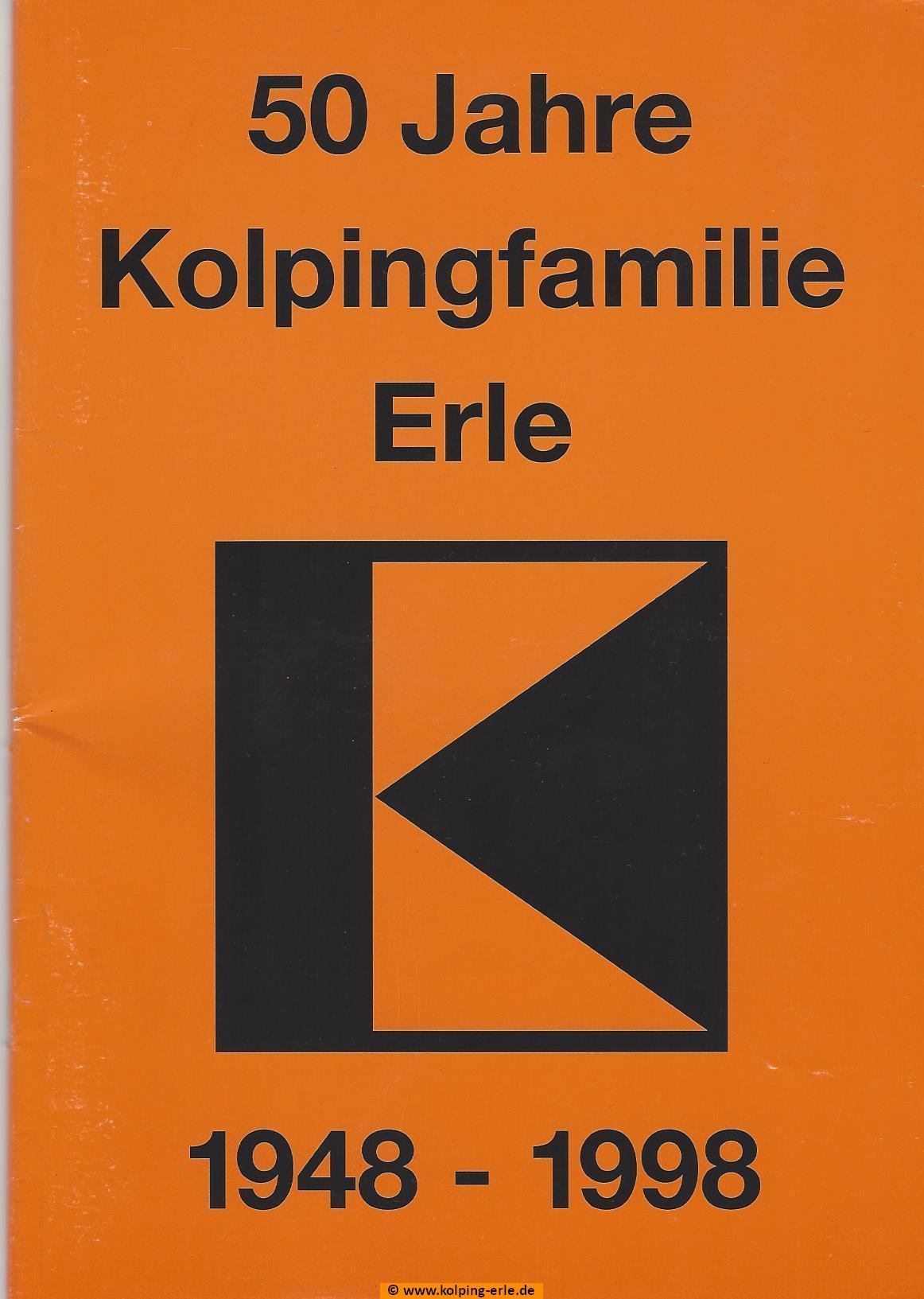 Titelblatt Festschrift 50 Jahre Kolpingfamilie - Erle