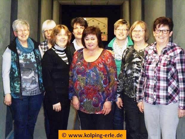 Das Bild zeigt die Damenmannschaft der Kolpingsfamilie-Erle 2016