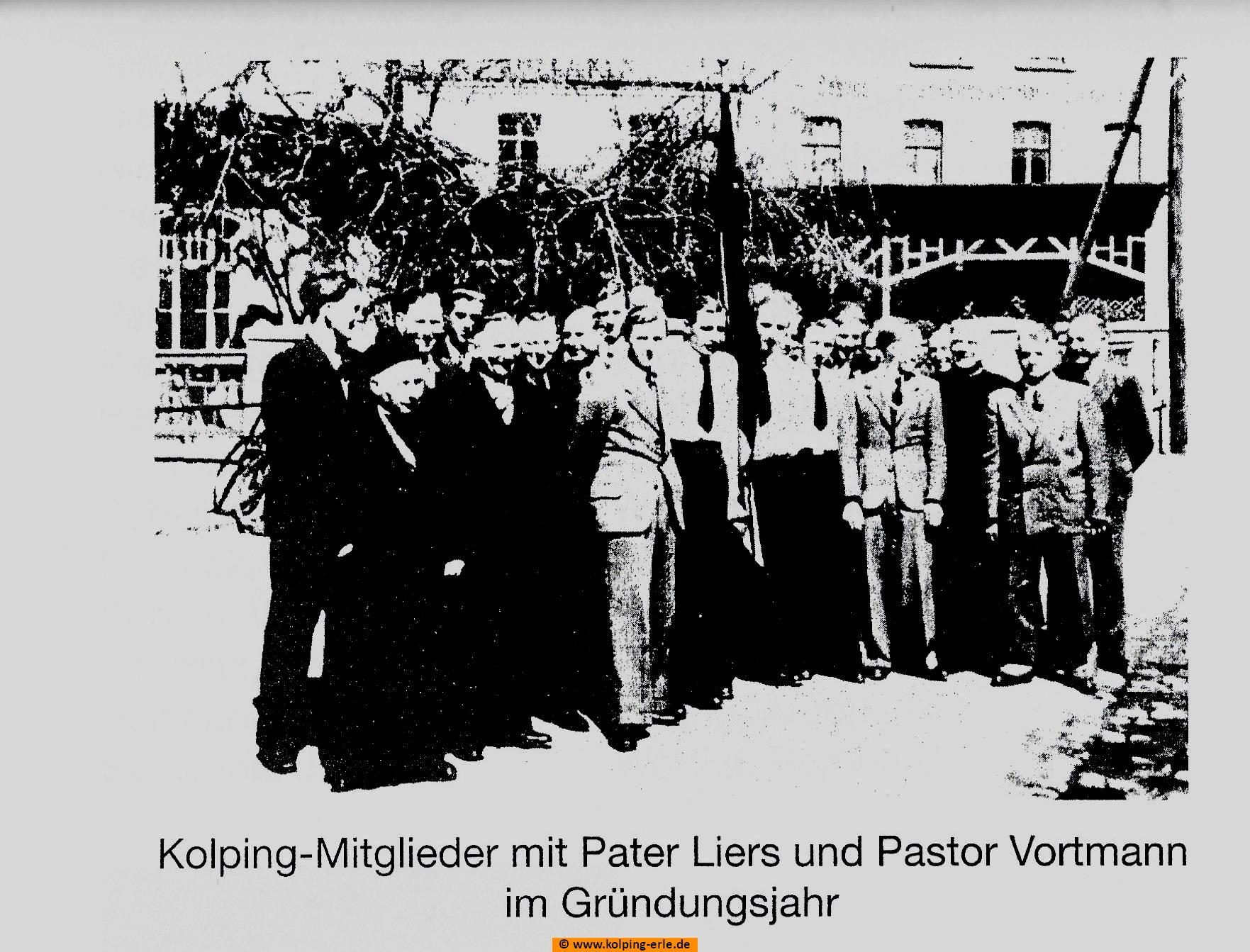 Kolping-Mitglieder im Gründungsjahr