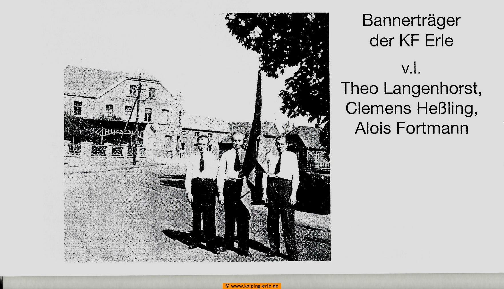 Bannerträger der Kolpingsfamilie-Erle