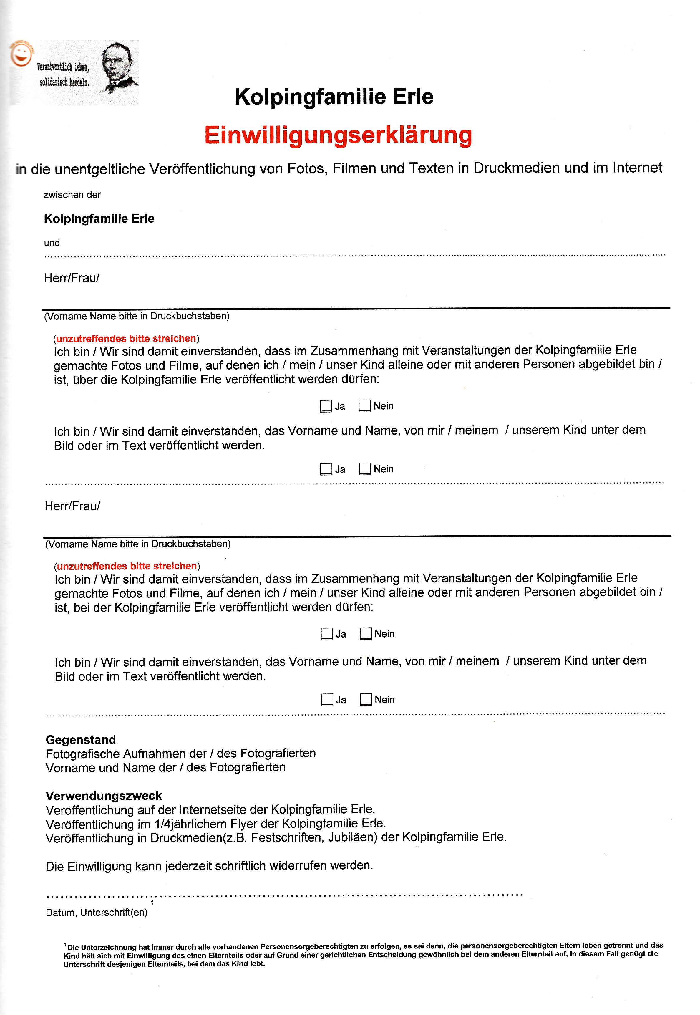 Einwilligungserklärung
