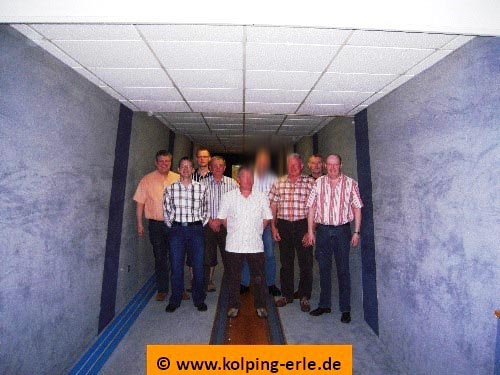 Das Bild zeigt die Herrenmannschaft der Kolpingsfamilie-Erle von 2009