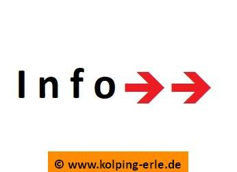 Das Bild zeigt das Wort Info und zwei Pfeile