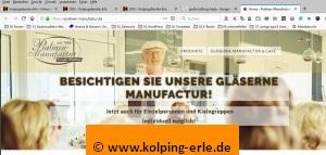 Das Bild zeigt ein Abbild der Webseite der Pralinenmanufactur Große-Bölting aus Rhede