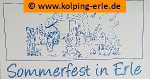 Das Bild zeigt einen Teil des Plakates vom Sommerfest