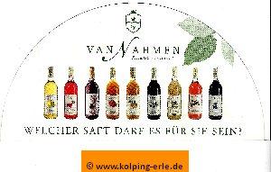 Das Bild zeigt ein Abbild der Webseite der Obstkelterei van Nahmen